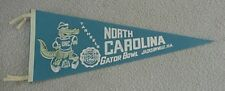 1971 UNC NORTH CAROLINA TARHEELS GATOR BOWL PENNANT UNSOLD CONCESSIONS STOCK