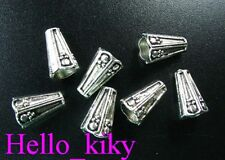 60 pcs Tibetan silver floral cone spacer beads A812