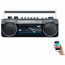 auvisio Retro-Boombox mit Kassetten-Player, Radio, USB, SD & Bluetooth, 8 Watt
