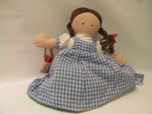 """10"""" Wizard of Oz Reversible  Cloth Doll Ikea KVACK Dorothy and Toto"""
