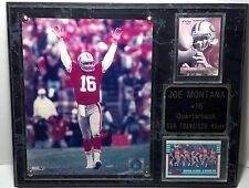 1999 S.F. 49er Joe Montana plaque marbelized look wood