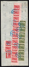 1930s China Revenue Receipt cover 20 stamps