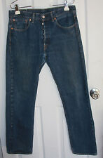 Levis 501 Blue Jeans 32x30 Button Fly 100% Cotton Made In Mexico