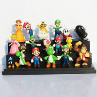 18Pcs/ Set Super Mario Bros dinosaur yoshi action figure toy Gift Desk Decorate