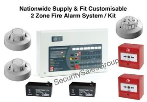 Nationwide Supply & Fit 2 Zone Wired Fire Alarm Kit Installation - C-Tec Apollo