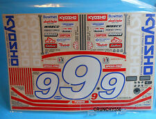 Kyosho H-999 Thunderbird Stock Car Body Decal Sticker Sheet Vintage RC Part