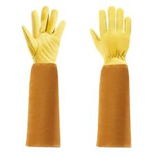 Gardening Gloves for Women and Men Thron Proof Rose Pruning Cow Leather