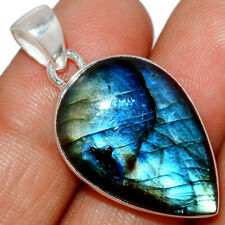 Labradorite - Madagascar 925 Sterling Silver Pendant Jewelry AP230063