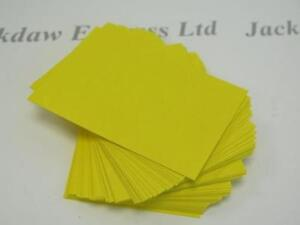 80 x Yellow Artist Trading Cards (Linen 1-side smooth reverse) 63 x 89mm AM868