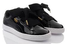 PUMA Basket Heart Patent WN'S Ladies' Shoes Trainers Black Size 38