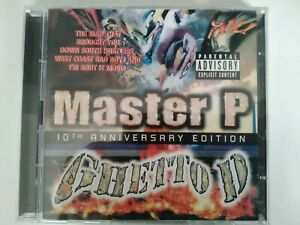 Master P GHETTO D 10TH Anniversary edition CD RAP US HIP Hop