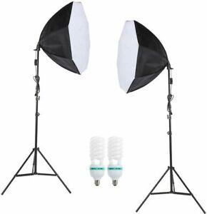 Kit set da studio fotografico Luci con lampada soft box Andoer D2251