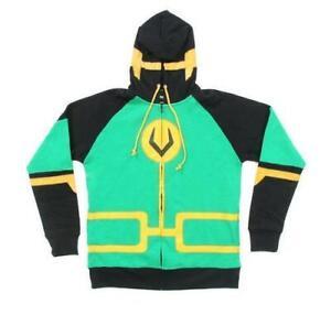 Men's Loki Symbol Zip Up Costume Hoodie Sweatshirt