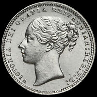 1868 Queen Victoria Young Head Silver Shilling