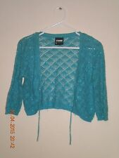 Target - Jnr Zone - Girls Green Knit Shrug With Silver Thread Detail. Size - 16.