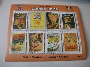 GUYANA   1993     VINTAGE DONALD DUCK MOVIE POSTERS   SHEETLET #2