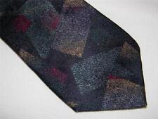 Awesome! IKE BEHAR NEW YORK blue purple SILK ABSTRACT NECK TIE