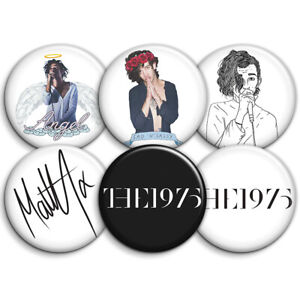 The 1975 Band - 6 x Button Badges - 25mm 1inch Badges