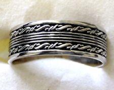Men's / Women's Artisan Band Ring, 925 Sterling Silver, size 13 -- 5.7 grams