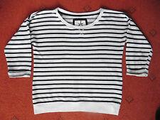 Women's Atmosphere Blue/white striped nautical 3/4 sleeved Sweatshirt, Size 10