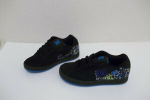 *NEW DC SHOES PIXIE SNOWFLAKE GIRLS 2.5 BLACK SUEDE SNEAKERS SKATEBOARDING SHOE