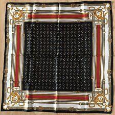 Style vintage-femme foulard cravate-EQUESTRIAN-Fer à Cheval-Collection Années 90