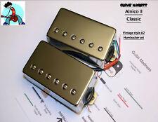 G.M. Alnico II Classic Chrome Covered Humbucker Set Nickel Silver