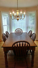 Pure Oak Dinning Room Table w/ 6 Chairs