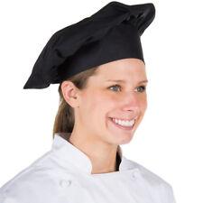 USA Seller Black Chef/Baker Hat Cotton Blend Adjustable Velcro® Closure