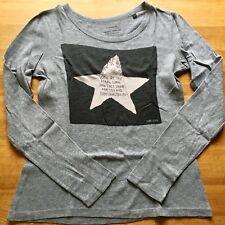 MARC O'POLO Langarm Shirt Longsleeve Grau Sterne Gr. S 36
