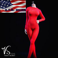 "1/6 Women Red Slim Tights Stretch Suit Set For 12"" PHICEN Hot Toys Figure ❶USA❶"