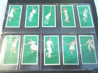 1936 TENNIS how to play shot tips Complete Players Tobacco Card Set 50