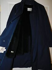 RAINTAMER Warm Long Winter Trench Over Coat Zip Out Fur Liner Men's Size 42 Reg