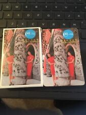 CHINA AIRLINES Deck of Playing Cards -Flight Attendants in Red Dresses