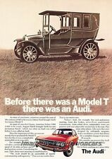 1972 Audi 100LS 1904 Model T Ford Original Advertisement Print Art Car Ad J820