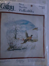 "VINTAGE CATHY NEEDLECRAFT COLLECTIBLE 0511 PHEASANT SIZE 22"" X 22"" NEW SEALED"