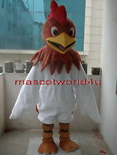 Brand New Rooster Cock School Mascot Costume Adult Size