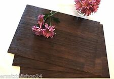 **exlusives Tischset Holzdekor Mooreiche, abwaschbar rutschfest Platzset PVC #12