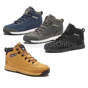Men's Henleys Paler Walking Boots Black Tan Charcoal Leather Lace Up Shoes