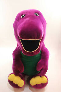 "JUMBO Vtg 90s 1992 HUGE 50"" 4FT Tall BARNEY Dinosaur Stuffed Animal Plush OG Toy"