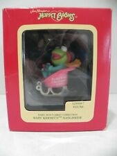 MUPPET BABIES BABY BOY'S 1ST CHRISTMAS ORNAMENT KERMIT'S SLEIGHRIDE