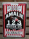 AMALIE+1+2+3+MOTOR+OILS+1930%27S+STYLE+PORCELAIN+SIGN+-+GAS+%26+OIL