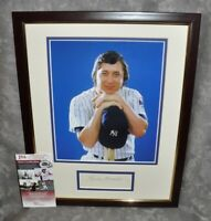 Bobby Murcer Autographed Vintage 3x5 Matted Framed NY Yankees JSA COA 12x16