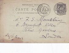 Bellevue La France à Londres 1898 10 C Prépayé Carte postale utilisé