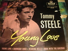 """Tommy Steele - Young Love 7"""" Ep 1956 ROCK WITH THE CAVEMAN/DOOMSDAY ROCK EX++"""