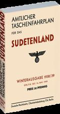 Amtlicher Taschenfahrplan für das Sudetenland - 1938/39 (Reprint)