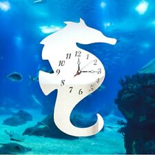 Seahorse Shaped Clocks - Many Colour Mirrors & Solid Colours