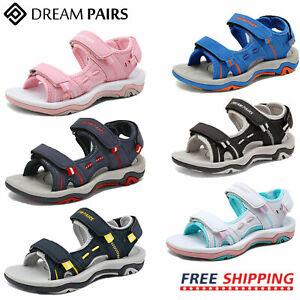 DREAM PAIRS Kids Girls Boys Outdoor Summer Beach Casual Walking Sports Sandals
