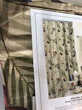 Creative Bath Bora Bora Tropical Shower Curtain Butterflies Fern Leaf Print New