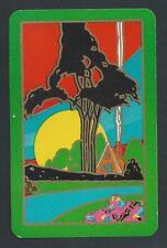 #200.276 vintage swap card -EXC- Art Deco cottage, green border